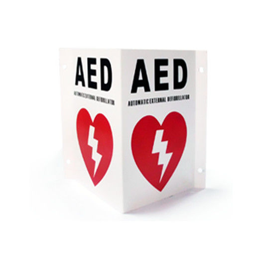 AED Wall Sign First Aid Wall Cabinet 160*220*1mm For The Mark Of AED Defibrillator