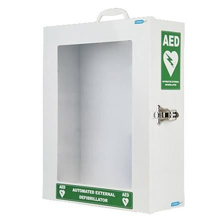 Stainless Steel Wall Hanging First Aid Kit , First Aid Cabinet With Night Light Indicator