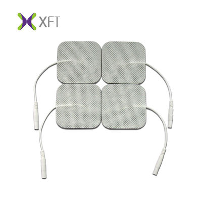 Non Woven Aed Defibrillator Pads , Sticky Hydrogel Tens Unit Electrode Pads